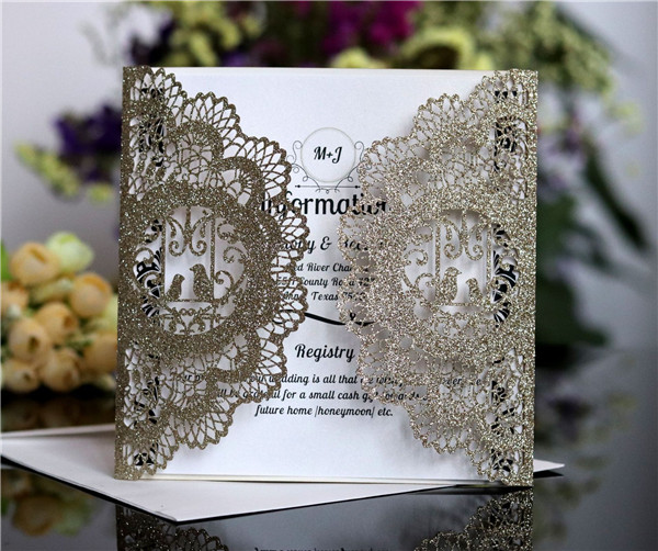 Affordable glitter laser cut wedding invitations lc063 amaze paperie affordable glitter laser cut wedding invitations lc063 filmwisefo