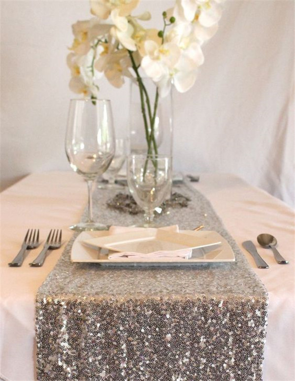 Awesome Glitter Wedding Table Runner Ideas to Inspire