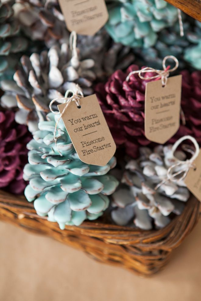 Brilliant Pinecone Wedding Decoration Ideas