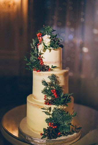 Creative and Stylish Winter Wedding Cakes