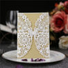 Elgant Butterfly Shape laser cut wedding invitations with gold inner cards LC045
