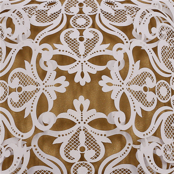 Exquisite charming white laser cut wedding invitations LC048