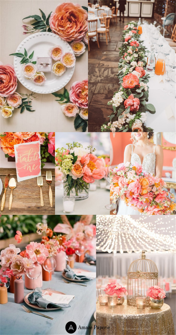 Living Coral Wedding Ideas for Any Season