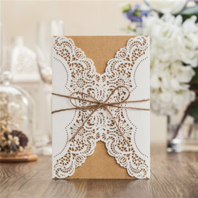 Cheap wedding invitations archives amaze paperie rustic white lace detailed wedding invitations with suede ribbon lc011 filmwisefo