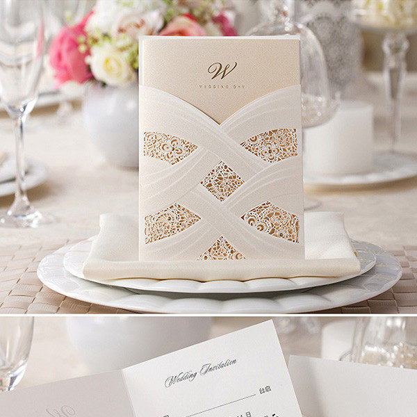 Unique-ivory-and-gold-laser-cut-pocket-wedding-invitations-LC005